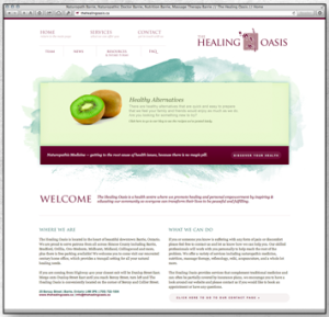 The Healing Oasis website